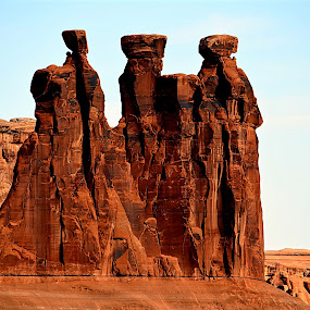 The Wise Men of Rock* by Rob Bradshaw - Landscapes Caves & Formations ( moab, arches national park, land formation, red rocks, the wise men of rock, landscape, ut )
