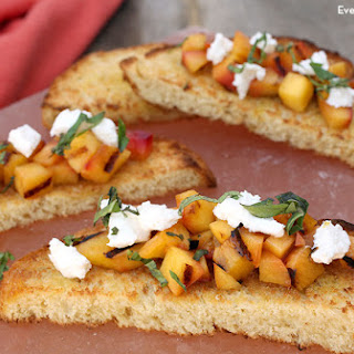 Grilled Peaches and Goat Cheese Bruschetta.