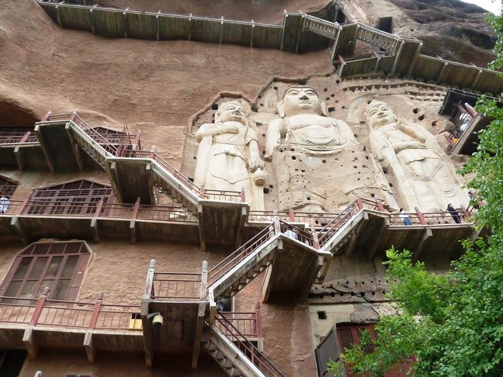 Grutas Maijishan, as grutas na Rota da Seda