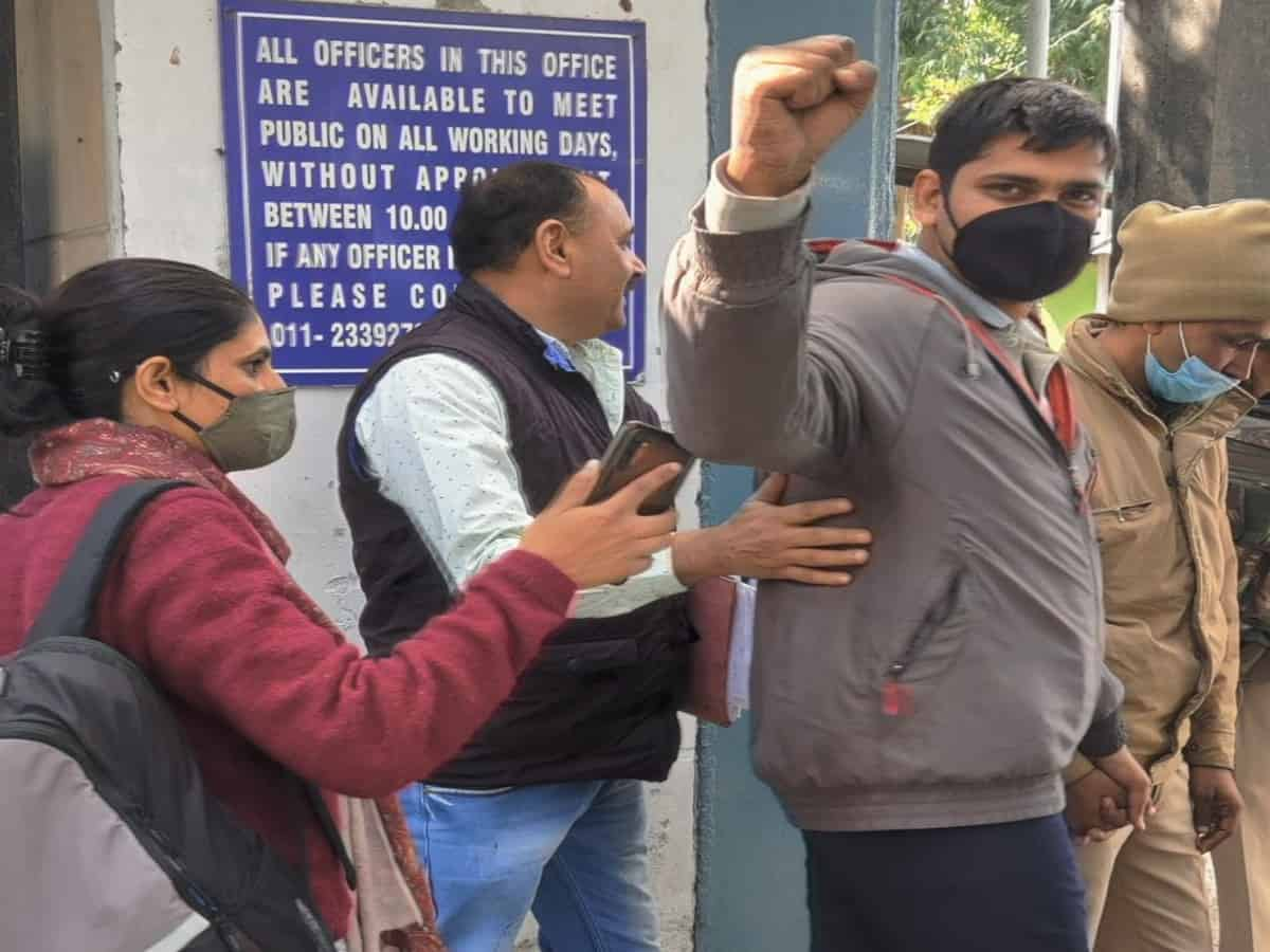 People rally in support for journalist Mandeep Punia, arrested by Delhi  police