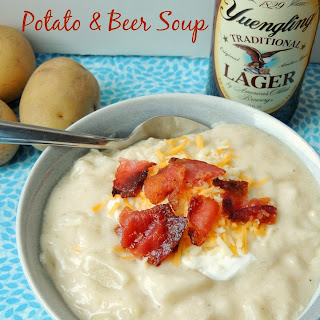 Loaded Smashed Potato & Beer Soup
