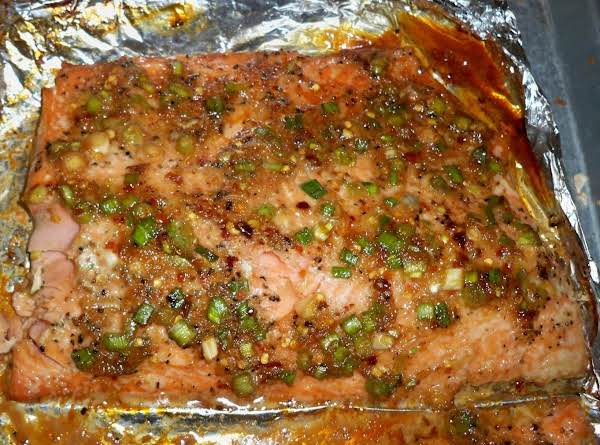 Asian Marinated Glazed Salmon-annette's Recipe