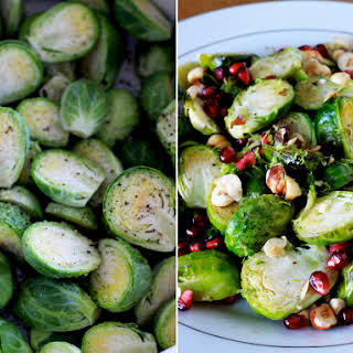Festive Brussels Sprouts With Hazelnuts And Pomegranate.