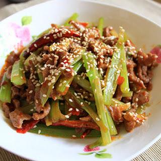Shredded Beef Szechuan Style