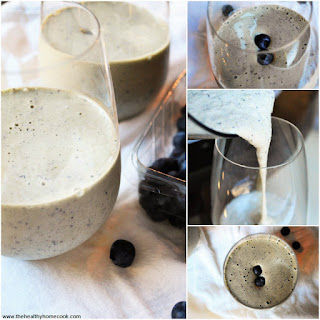 Blueberry Spinach Protein Smoothie