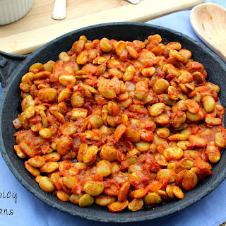 Smoky Spicy Lima Beans.