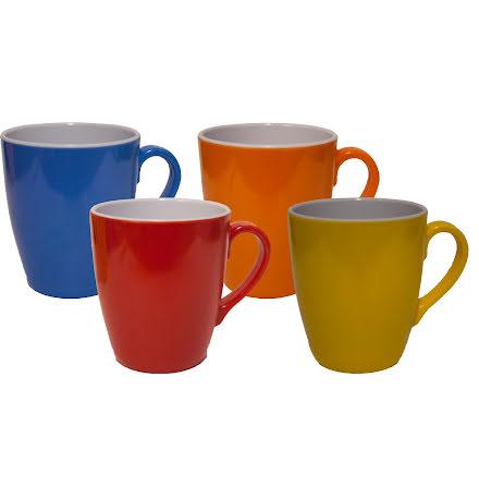 Melamin Kaffemugg 4-p