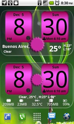 FlipClock NiceAll Pink Widget screenshot 1