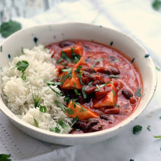 Easy Paneer & Kidney Bean Coconut Curry.