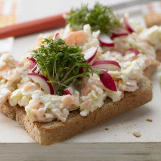 Salmon Tartare on Bread with Cress Recipe