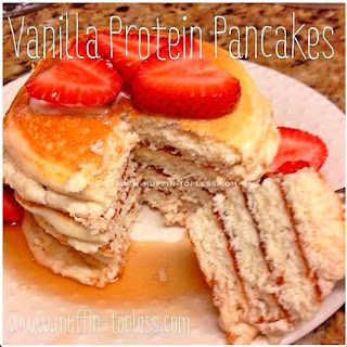 Vanilla Protein Pancakes by Muffin Topless