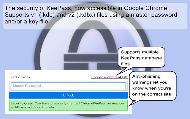 CKP - KeePass integration for Chrome™