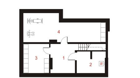 Dom przy Szarotek - Rzut piwnicy