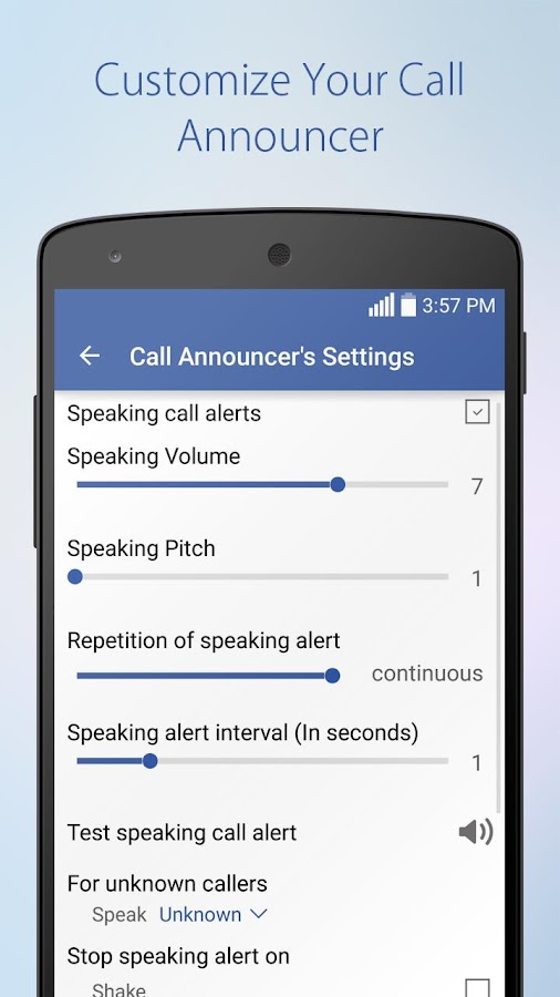 Speaking SMS & Call Announcer- screenshot