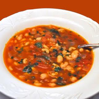 Tomato, White Bean and Pasta Soup.