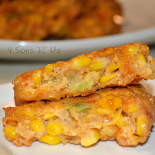 Sweet Corn & Cheddar Cheese Fritters.