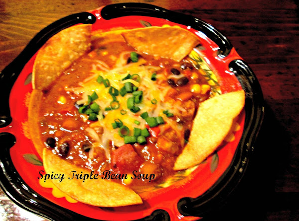 Spicy Triple Bean Soup Recipe