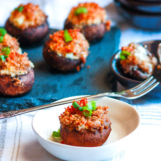 Stuffed and Prosciutto Crusted Mushrooms