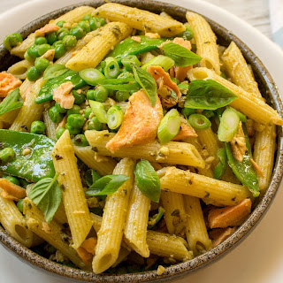 Salmon Pesto Pea Pasta Recipe