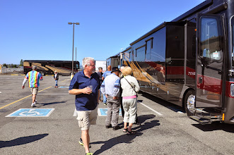 Photo: checking out coaches