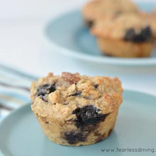 Gluten Free Oatmeal Breakfast Muffins.