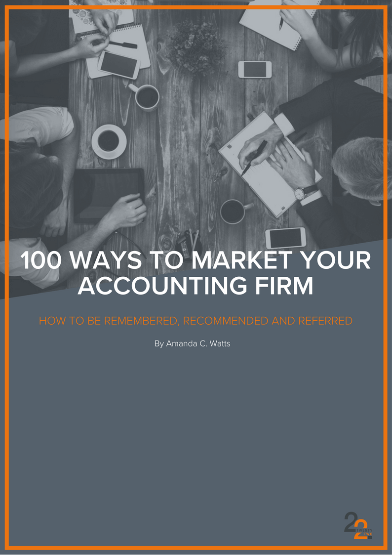 100 Ways To Market Your Accounting Firm | TwentyTwo