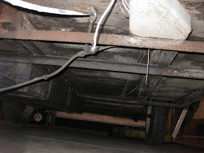 Photo: The underside of the trailer, frame is still in good condition, just going to need some clean-up and POR-15