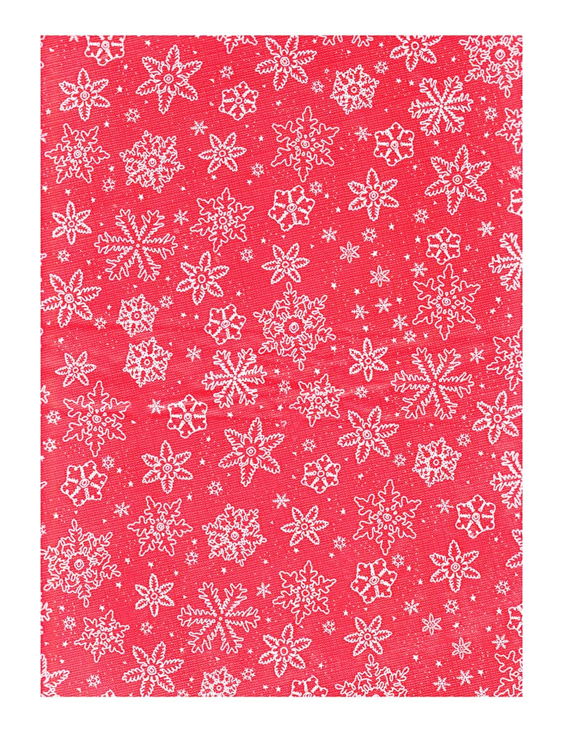 Details about Christmas Tablecloth Vinyl Flannel Back Red White Snowflake  Design 52 x 90 Snow