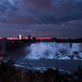 American Falls Sunrise by Gary Poulsen - Novices Only Landscapes ( american falls, waterfall, niagra, sunrise )