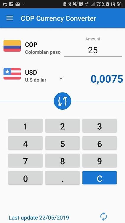 Colombian Peso Cop Currency Converter