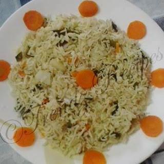 Vegetable Biryani Recipe With Mint Leaves