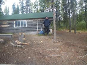 Photo: die Cabin, von einer großzügigen Seele zur Verfügung gestellt. Mit Bett, Ofen und Kocher, juhu