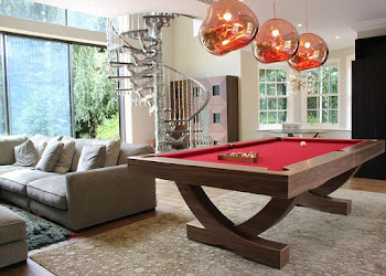 Bespoke Pool Table in Contemporary Living Room
