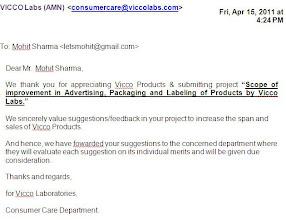 Photo: Project Report Appreciation - Vicco (2010)