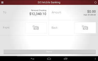 Screenshot of SIS Mobile Banking