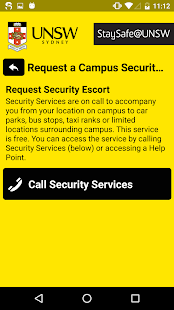 StaySafe@UNSW- screenshot thumbnail