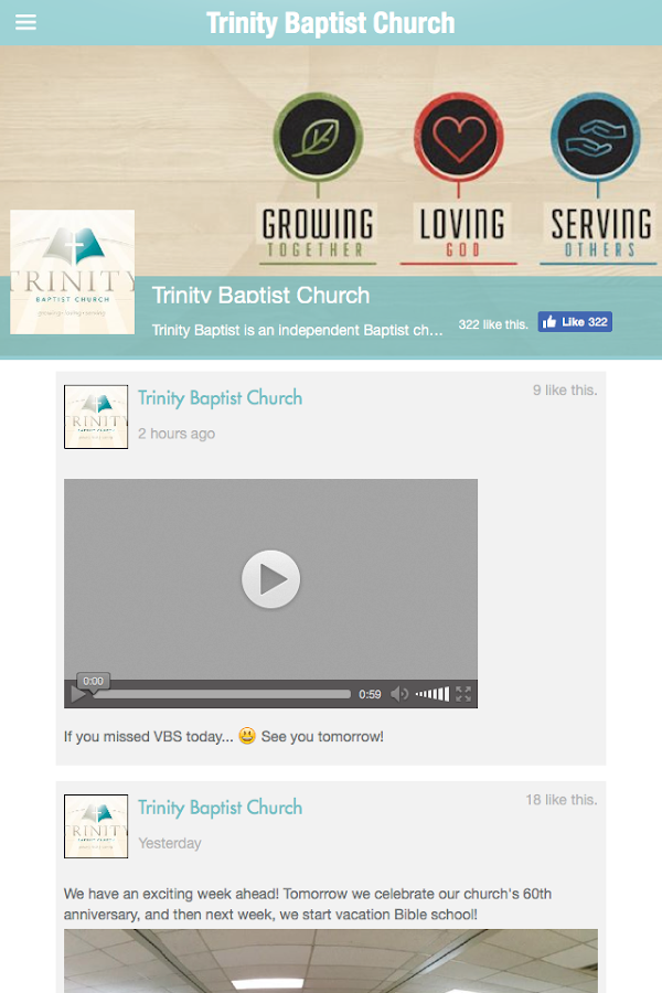 Trinity Baptist Church- screenshot