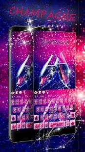 Neon Glitter Champagne Keyboard - náhled