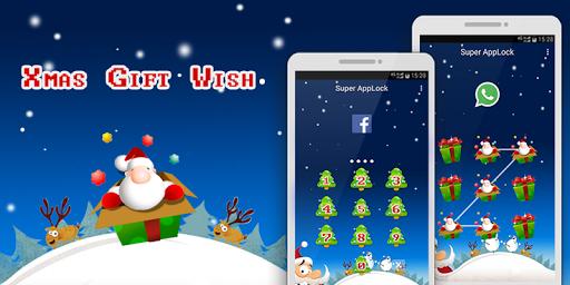 AppLock Theme Xmas Gift Wish