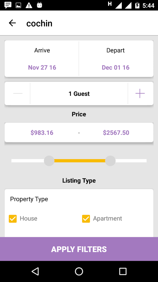 HomeStayDNN - Airbnb Clone App- screenshot