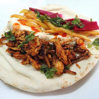 Homemade Arabic Chicken Shawarma.