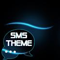 Blue Simple Theme GO SMS