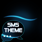 Blue Simple Theme GO SMS icon