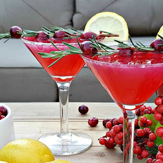 New Year's Drink Recipe – Cranberry Lemon Drops.