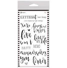Ranger Letter It Clear Stamp Set 4X6 - Loves