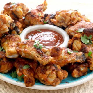 Barbecue Dry-rubbed Chicken Wings.