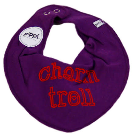 PIPPI Haklapp/Dregellapp text, Charm Troll purple