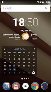 Month Calendar Widget- screenshot thumbnail