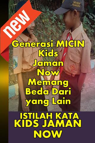 ڈاؤن لوڈ ، اتارنا Istilah Kata Kata Kids Jaman الآن Apk android ڈاؤن لوڈ کے  لئے - تازہ ترین ورژن