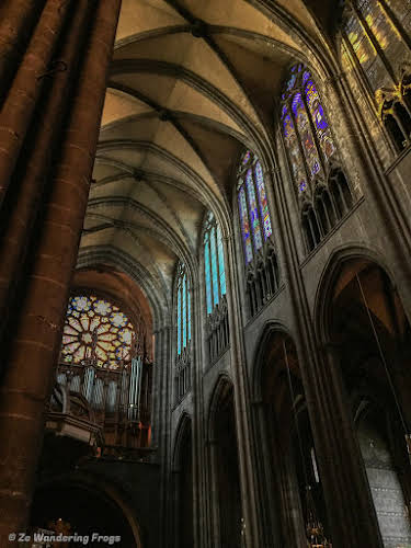 Clermont-Ferrand Cathedral: Dark, Gothic, and Imposing // High Nave and Pipe Organs
